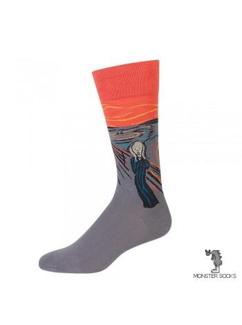 Шкарпетки з картиною Крик (Едвард Мунк)
