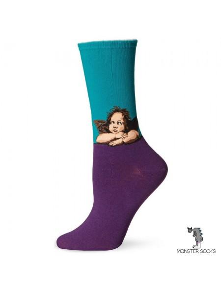 Шкарпетки з картиною Сикстинська мадонна (Рафаель Санті)