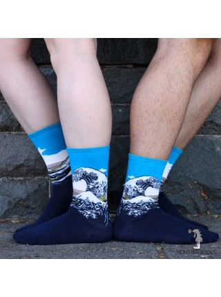 Шкарпетки Велика хвиля в Канагава (картина Хокусая)