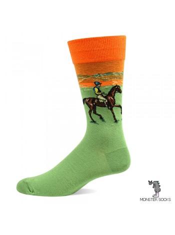 Носки с картиной Скаковые лошади
