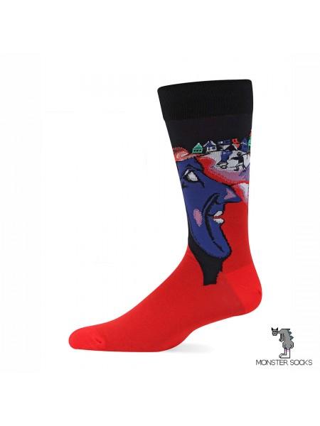 Шкарпетки з картиною Я і село (Марк Шагал)