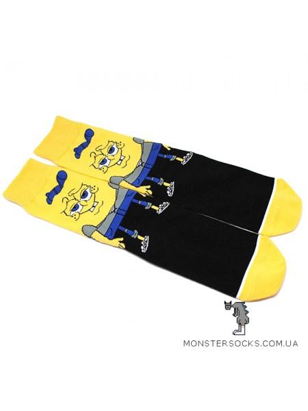 Шкарпетки Губка Боб квадратні штани