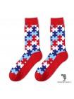 Шкарпетки з пазлами червоні