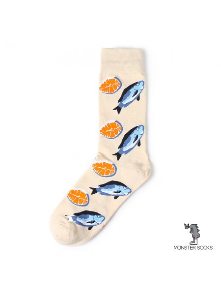 Шкарпетки з рибою сьомгою і стейком