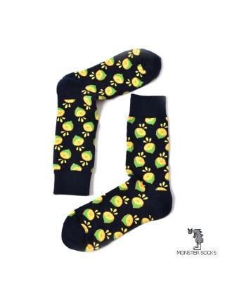 Шкарпетки з лимонами чорні