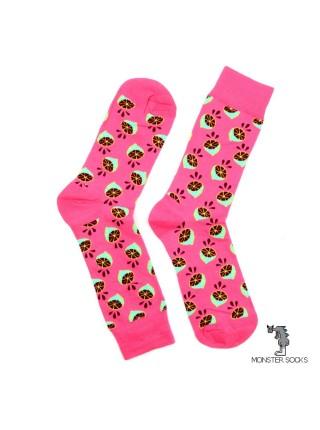 Шкарпетки з лимонами рожеві