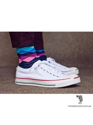 Шкарпетки з кольоровими візерунками в ромб