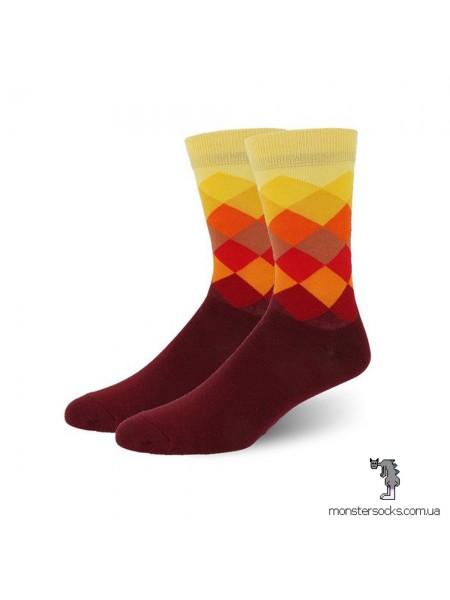 Шкарпетки з різнокольоровими ромбами