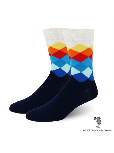Шкарпетки з яскравими ромбами
