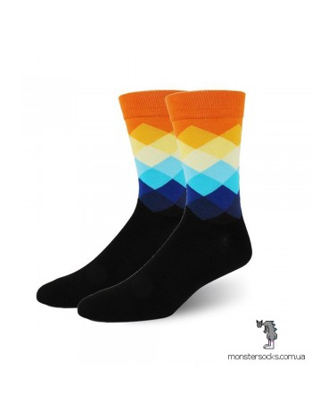 Шкарпетки з візерунком в яскравий ромб