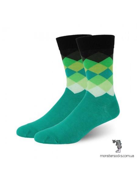 Шкарпетки з візерунком бірюзового відтінку