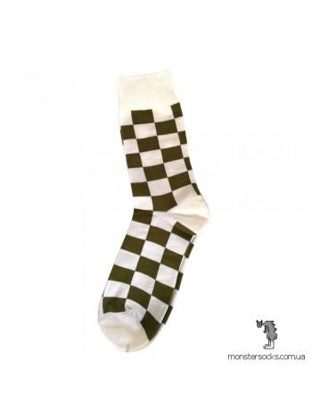 Шкарпетки з візерунком Шахова дошка