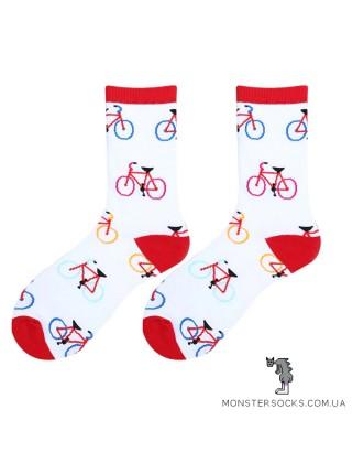 Шкарпетки з велосипедами