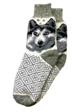 Шкарпетки з Хаскі вовняні